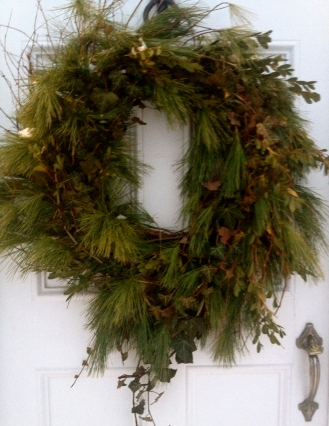 Front Door Wreath, made by my talented Mother